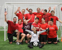 Coed indoor soccer team looking for 1 more Male