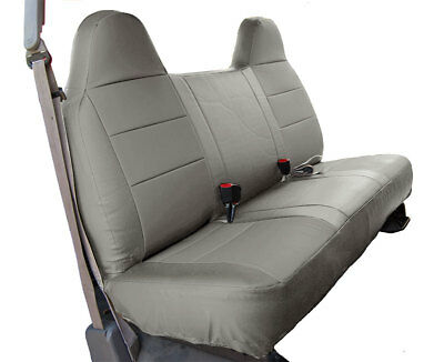 FORD F-250 350 GREY IGGEE S.LEATHER CUSTOM FIT BENCH FRONT SEAT -