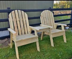 Wooden jack and Jill patio bristo sets