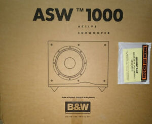 B&W ASW 1000. Active Subwoofer.