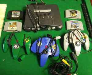 Nintendo 64 with 3 controllers and 4 games