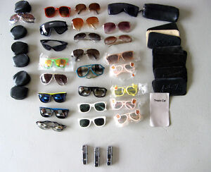 NEW! 27 pr Sunglasses- UV 400 - Plus Cases, Glass holders CHEAP