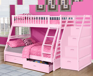 Twin over Full Bunk Bed w/ Storage Drawers! Free Delivery! Edmonton Edmonton Area image 9