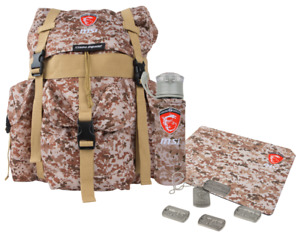 MSI special edition camo laptop backpack, mousepad, cater bottle