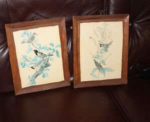 3 pairs of pictures - Flowers and Birds
