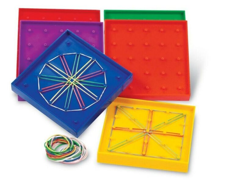 BN: Learning Resources 5-Inch Double-Sided Assorted Geoboard