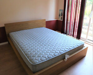 Delivery IKEA QUEEN MALM BED with MATTRESS