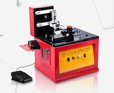Desktop Electric Pad Printer Manufacture Dates Signs Printing Machine 220v