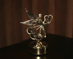 Lovely Angel With Wings Music Box  Crystals Rotates Kingston Kingston Area image 4
