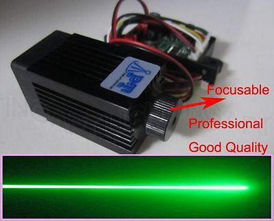 Promotion Focusable 12V 200mW 532nm green laser module continuous/long life/TTL 200 Mw Green Laser