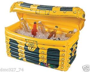 Luau Pool Party Decoration INFLATABLE COOLER Drinks PIRATE TREASURE CHEST