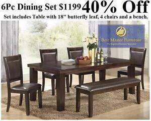 New -- 6Pc Dining Set -- 55% OFF