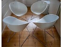 Habitat Palocco White Dining Chairs