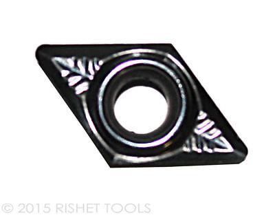 Rishet Tools Dcgx Dcgt 32.51 High Polish Turning Inserts For Aluminum 10 Pcs