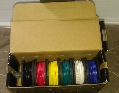 Hook-up Wire Spool Set - 22awg Solid Core - 6 X 25 Ft P1311