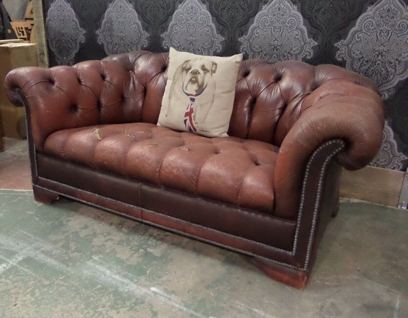 Shabby Chic Pendragon Chesterfield 2 Seater Sofa Uk Delivery