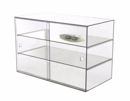 LARGE ACRYLIC DISPLAY CABINET 58x33x40cm,5mm thick, CAKE BAKERY..