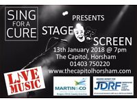 Sing for a Cure presents Stage and Screen! A brilliant evening of musical talent and fun!