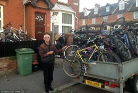 Cash paid for your adult unwanted bikes