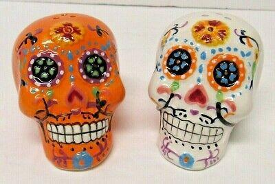 Talavera Day Of The Dead Calavera Sugar Skull Salt And Pepper Shaker Set
