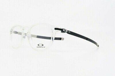 Oakley Men's Round Pitchman R Clear & Silver Glasses OX 8105- 50mm (Oakley Reading Glasses Men)