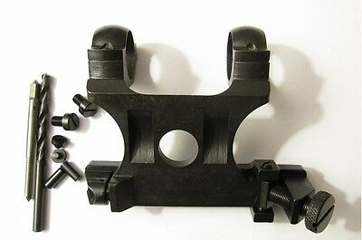 """Soviet Russian Mosin Nagant 91/30 PU sniper scope mount Set with 1"""" inch rings"""