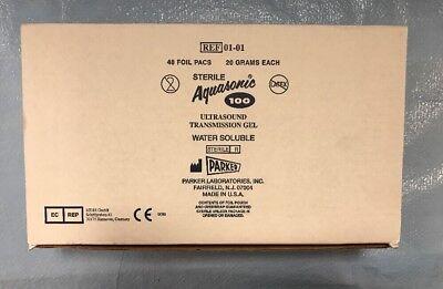 Parker 01-01 Aquasonic 100 Ultrasound Transmission Gel 20gr 48 Foil Packs