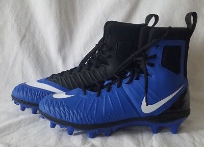 a8b7bbbac Nike Force Savage Mens 880140-410 Blue Black Football Cleats Size 10