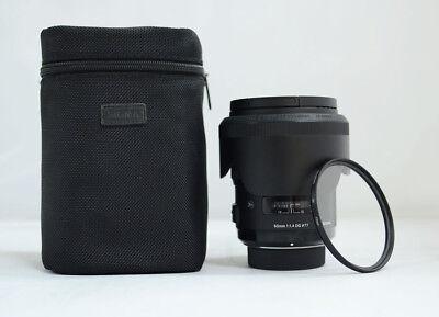 Sigma Art 50mm F/1.4 HSM DG Lens For Nikon + Filter