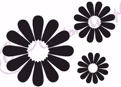 DAISY'S Vinyl Sticker, Car, Window, Wall 11 Colours Flowers, Spring, Set of 3