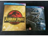 Jurassic park ultimate trilogy with Jurassic world