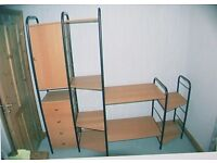 Shelving unit with cupboards (adjustable & flat-packed)