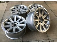 FULLY REFURBISHED GENUINE STYLE 95 ALLOY WHEELS - STAGGERED IN FITMENT - SPARKLE SILVER - BARGAIN!