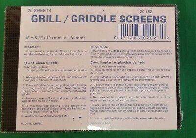 20 Screens Grill Screen Mesh Scraper Cleaner 4 X 5 12