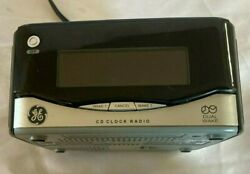 GE CD Clock Radio Model 7-4801A Tested Black and Silver