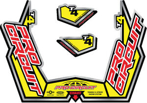 PRO CIRCUIT T4-GP STICKER KIT REPLACEMENT MUFFLER STICKERS
