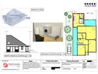NORTH LONDON ARCHITECTURE SERVICE: Planning Permissions, Loft & Home Extensions drawings & MORE