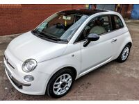 FIAT 500 LOUNGE 1.2 - 2008 - FULL SERVICE HISTORY / PAN ROOF / £30 ROAD TAX/LONG MOT