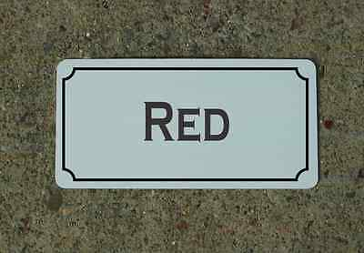 RED Metal Sign Vintage Style for Wine Cellar Cave or Collection or Kitchen