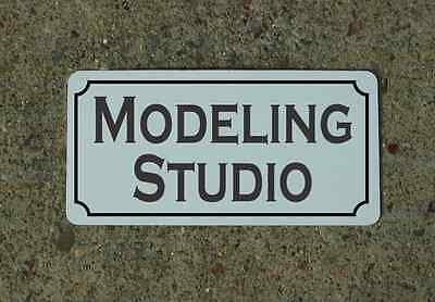 "MODELING STUDIO 6""x12"" Tin Metal Sign Vintage Style Design Decor"