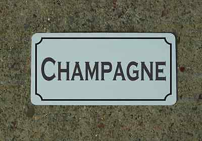 CHAMPAGNE Metal Sign Vintage Style for Wine Cellar Cave or Collection or Kitchen
