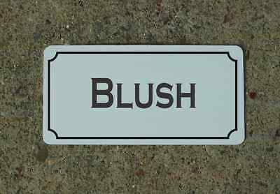 BLUSH Metal Sign Vintage Style for Wine Cellar Cave or Collection or Kitchen