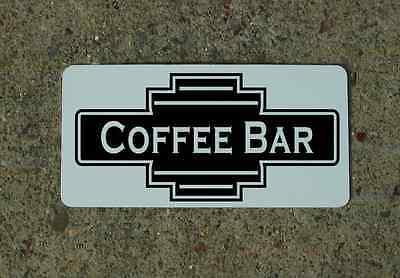 Coffee Bar Black Metal Sign