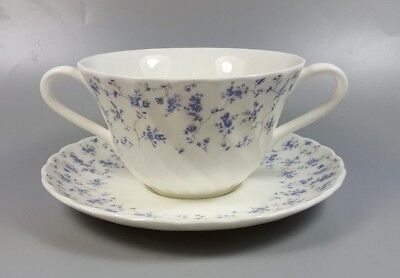WEDGWOOD WINDRUSH CREAM SOUP COUPE / CUP AND STAND (PERFECT) Cream Soup Cup