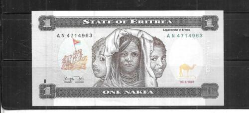 ERITREA #1 1997 MINT CRISP NAKFA BANKNOTE BILL NOTE CURRENCY PAPER MONEY