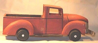Handcrafted Wood Toy Ford Truck Hand Made Wooden Crafted Home Decor