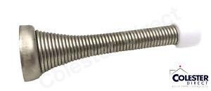 Qty 10 Brushed Nickel Flexible Spring Door Stop Stopper 3 1/8
