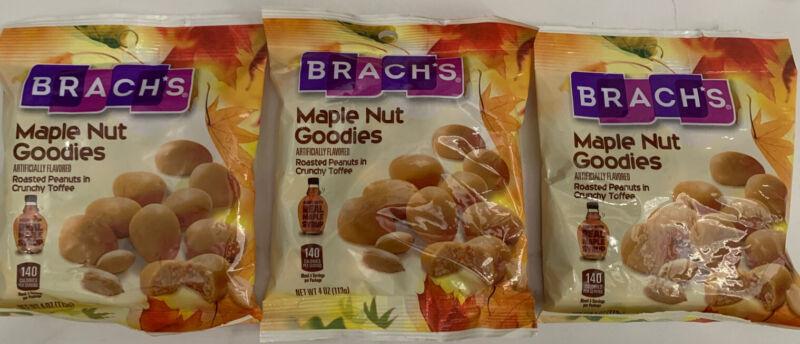 (3 packs ) Get 3 Bags Brach's Maple Nut Goodies Roasted Penuts