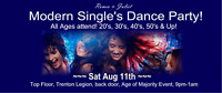 Modern Single's Dance Party! Newest Music! Aug 11th