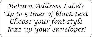 280 x Plain Return Address Labels